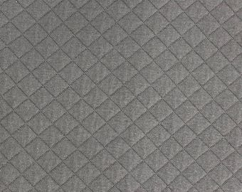 Quilted FRANCE DUVAL-STALLA Taupe Jersey fabric