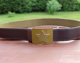 Soviet army belt Vintage army belt Military belt Hammer and sickle belt Wide canvas belt Soviet Russian army belt Military style