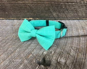 Grid Green Bow Tie