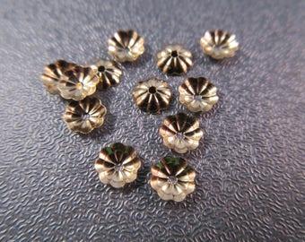 14K Gold Filled Flower Bead Caps 10pcs