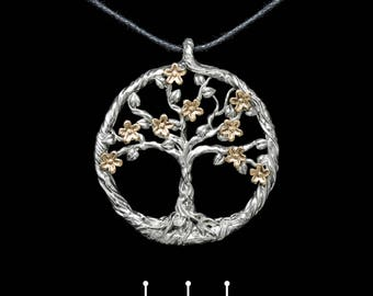 Silver tree pendant, silver tree necklace, tree necklace. Silver tree of life jewelry from Kochut collection.
