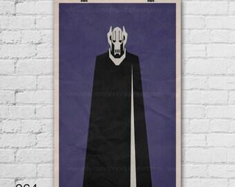 Star Wars Art Print. General Grievous. Pop Culture and Modern Wall Decor, 11x17, 13x19, 16x20, 18x24, A1 Size. Select a size. Item no. 064