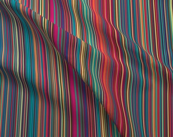 Vertical Stripe Fabric - Fantastic Mini Stripe ~ Vertical By Peacoquettedesigns - Fall Stripes Cotton Fabric By The Yard With Spoonflower