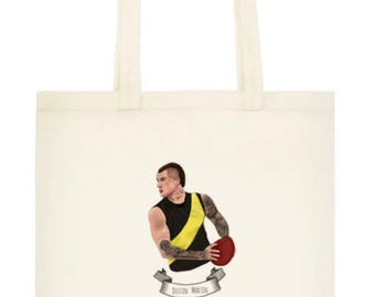 Dustin Martin illustrated 100% Cotton Eco Tote Bag