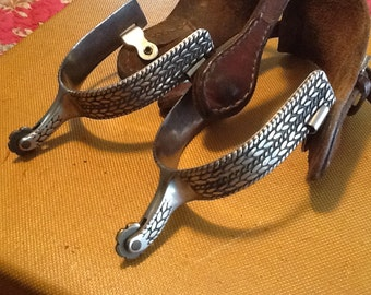 Antique Ornate Rodeo, Cowgirl, Cowboy, Western Spurs