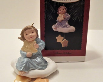 Three Wishes Angel Hallmark Ornament