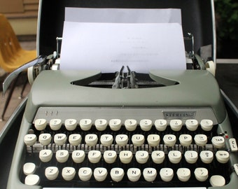 Vintage 1964 Smith Corona Sterling Typewriter S Series Type Writer Old Font Electronics Office Chic