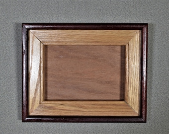 5 x 7 Frame Wood Two Tone with Glass and Backing