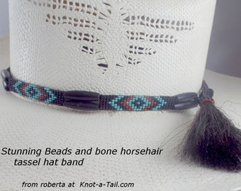 Beaded hat band, hat band, hat accessory, seed bead hat band, western hat band, cowboy hat band, cowgirl hat band, Native American inspired