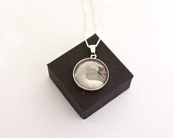 Swan Necklace, Sterling Silver, Swan Pendant, Gift for Bird Lovers, Mute Swan, White Swan Jewellery, Swan Lake, Ballet, Wedding Gift