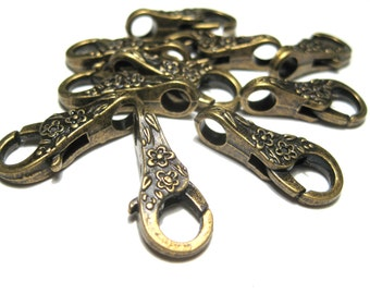 5pcs Antique Bronze Large Lobster Claw Clasp 25x11 mm