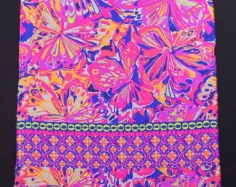 Pink Fusion Bombshell Engineered silk  ~ Authentic Lilly Pulitzer fabrics  18 X 18  inches