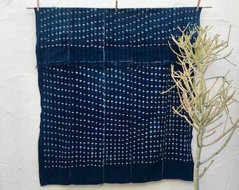 Vintage African Indigo Textile Indigo Throw Vintage Textile African Indigo Fabric Indigo Cloth Wall Hanging Hand dyed indigo mudcloth #179
