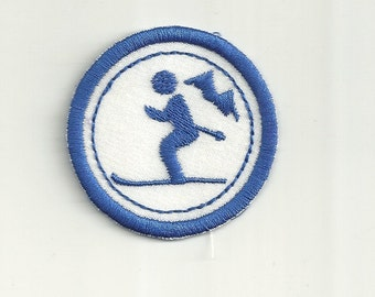 "2"" Skiing Merit Badge, Patch! Any Color combo! Custom Made!"