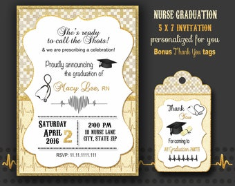 Pinning Ceremony invitations Nurse Graduation Nursing