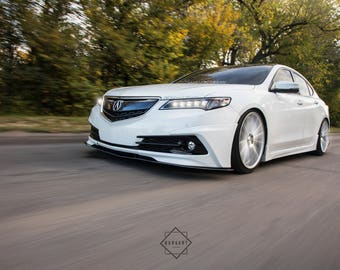 Acura TLX Rolling Shot Automotive Fine Art Photography Print Wall Decor by Ben Burgert - Multiple Sizes