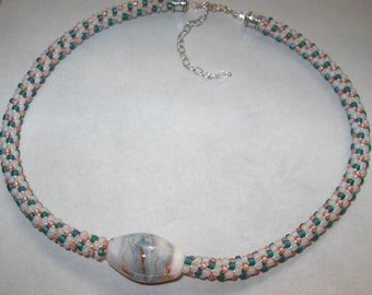 By the Seashore Kumihimo Necklace