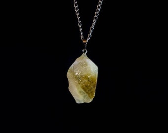 Citrine Crystal Amulet Necklace