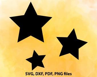 Stars SVG, Stars DXF, Stars Cut File, Stars PNG, Stars Cricut, Stars Silhouette, Stars studio, Stars Cutting, Stars Clipart, Stars design
