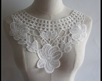 Ivory Lace appliques, Ivory lace, Exquoiste lace applique, bridal applique, Appliques