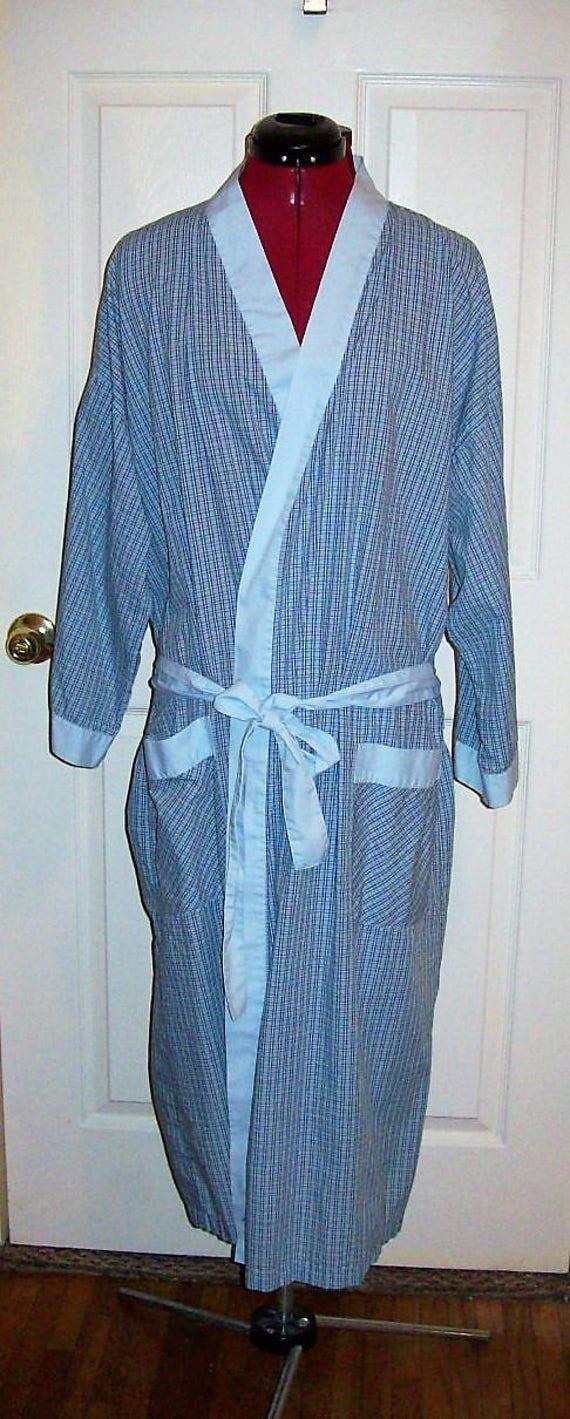 1960s Vintage plaid robe unisex 5zCbyF