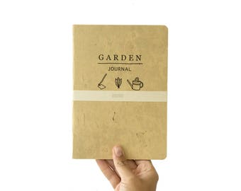 GARDEN Journal - handmade gardening notebook - take notes and planning at your garden -  gardeners tools GARA5002