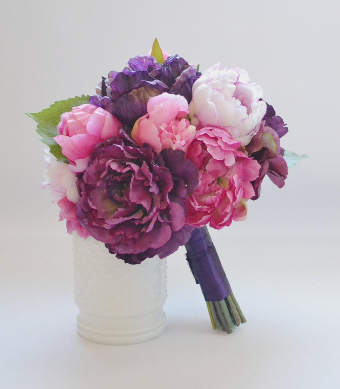 Peony bouquet fuchsia eggplant pink purple peony zoom izmirmasajfo