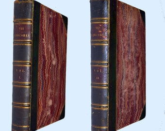 First edition of The Newcomes by William Makepeace Thackeray in 2 volumes 1854 and 1855. Illustrated by Richard Doyle.
