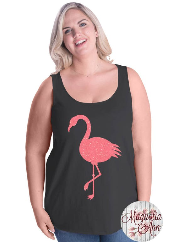 Flamingo, Summer, Beach, Women's Premium Jersey Tank Top in Sizes Small-4X, Plus Sizes, Curvy, Lots of Colors