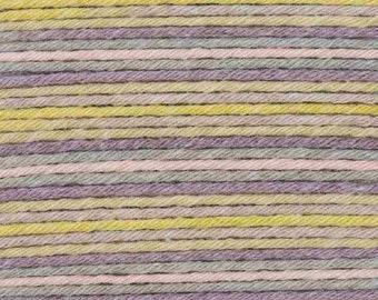 RICO BABY COTTON Soft Print Pelote fil coton et acrylique multicolore vert lilas 50g 125m