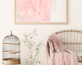 ROSE WALL ART, Rose Print, Gift for Women Mom, Rose Art Photography, Rose Art Poster, Large Photo Print, Blush Pink Wall Decor, Flower Decor