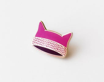 Tiny Pink Hat Enamel Pin | Benefitting Planned Parenthood | Women's March | Pussyhat | Feminist | Activist | Give Back | Pussy Hat