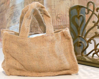 20 Burlap Rustic Wedding Favor Bags with Handles
