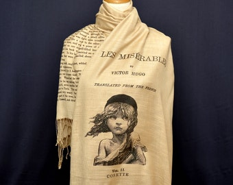 Les Misérables by Victor Hugo Shawl Scarf (English version)