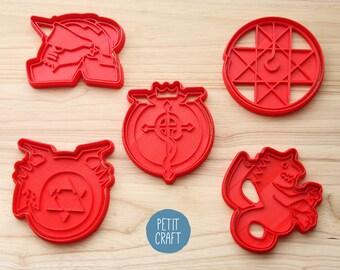 Fullmetal Alchemist:  Cookie Cutters, Cake and Fondant Decorates