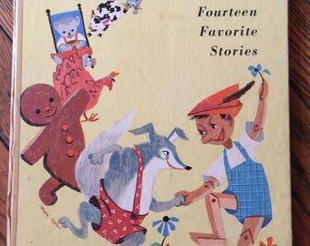 1953 Bedtime-Tales Fourteen Favorite Stories Big Silver Star Book