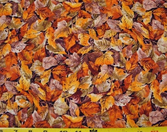 "Fall Leaves ""RiverWood"" for Troy Fabrics Sold by the Half Yard"