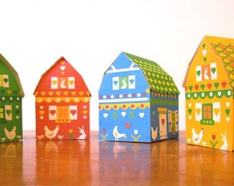 Barnyard gift boxes - Barnhouse PDF printables