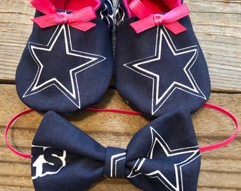 Baby girl dallas cowboys booties, baby cowboys booties, cowboys baby shoes, pink cowboys booties, cowboys baby shoes, cowboys baby moccs