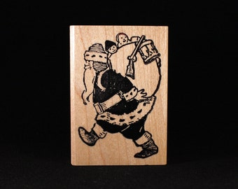 "Santa With Pack (2"" x 3"")"