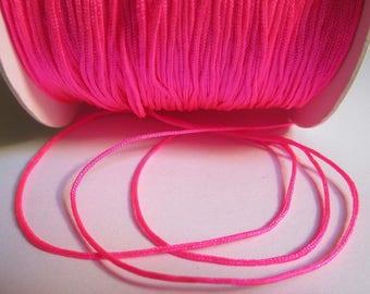 10 m 0.8 mm neon pink nylon string