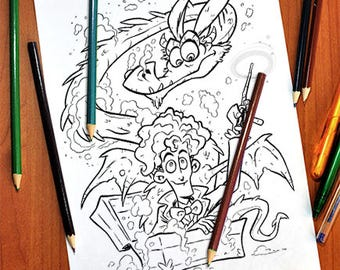 Fantastic Beast Coloring Page 1 - Download & Print!