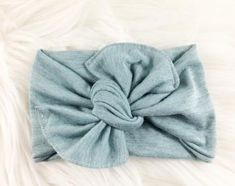 Baby Headbands, Baby Headwraps,  Baby Photo Props, Baby Turban, Top Knotted Headband