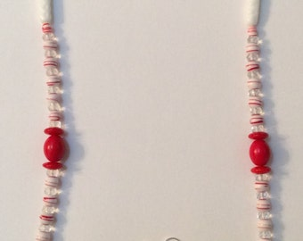 Holiday Necklace - Candy Cane 3 Necklace and Earring Set, Free Shipping
