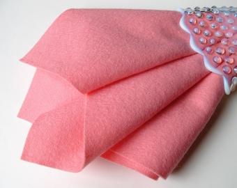 Carnation Pink, Pure Wool Felt, Choose Size, Large Felt Square, 100% Merino, Wool Applique, Felt Flowers, Soft Wool Felt, Pastel Pink, DIY