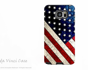 American Flag Case for Samsung Galaxy Note 5 - Protective Dual Layer Galaxy Note Case with USA Flag Art - Stars and Stripes by Da Vinci Case