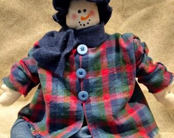 Snow lady,Winter,snowman shelf sitter,country snowman,shelf sitter