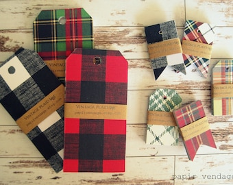 Plaid Christmas Tags,Christmas Gift Tags Christmas Plaid Tags, Plaid Tags, Tags, Gift Tags, Holiday Tags,Wedding Tags,Baby Shower Tags,Plaid