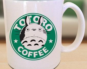 Totoro Starbucks Anime Manga Gamer Geek Nerd Inspired Parody Mug