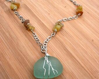Brilliant Seafoam Blue Necklace